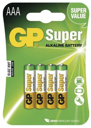 GP Alkalické baterie GP Super (AAA), 4 ks