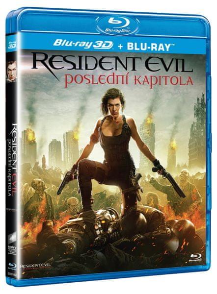 Resident Evil: Poslední kapitola 3D + 2D (2 disky) - Blu-ray