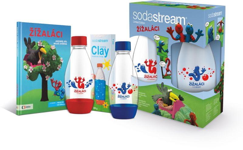 Sodastream dětský set Žížaláci 2 lahve + dárky SODA