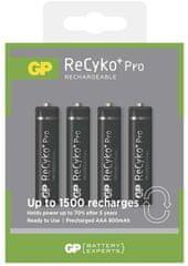 GP Nabíjecí baterie GP ReCyko+ Pro Professional (AAA), 4 ks