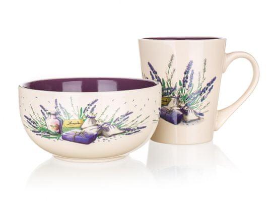Banquet komplet skodelice in posode Lavender