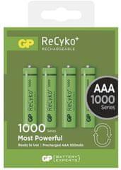 GP Nabíjecí baterie GP ReCyko+ 1000 (AAA), 4 ks