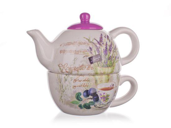 Banquet keramični čajnik s skodelico Lavander