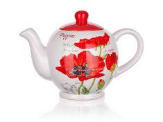 Banquet keramični čajnik Red Poppy, 1200 ml