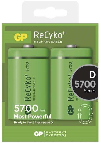 GP Nabíjecí baterie GP ReCyko+ (D), 2 ks