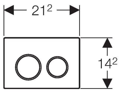 Geberit aktivirna tipka Omega20, mat krom/sijajni krom/mat krom (115.085.KN1)