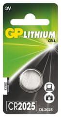 GP baterija CR2025, 1 kom