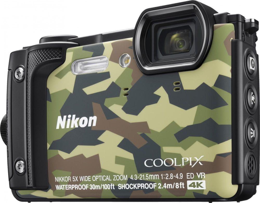 Nikon Coolpix W300 Camounflage + 2v1 plovoucí popruh
