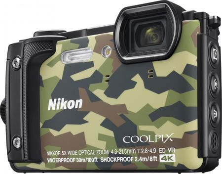 Nikon digitalni fotoaparat COOLPIX W300, podvodni, kamuflažen