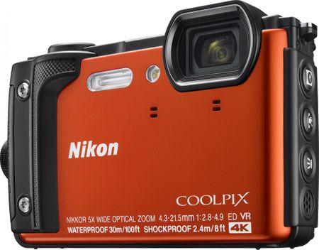Nikon digitalni fotoaparat COOLPIX W300, podvodni, oranžen