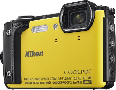 Nikon digitalni fotoaparat COOLPIX W300, podvodni, rumen