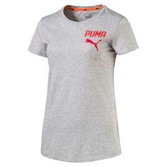 Puma ženska majica Athletic Tee, svetlo siva