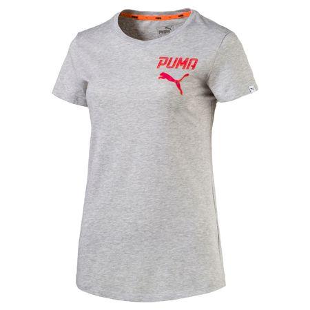 Puma ženska majica Athletic Tee, svetlo siva, S
