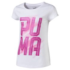 Puma dekliška majica Font Tee, bela