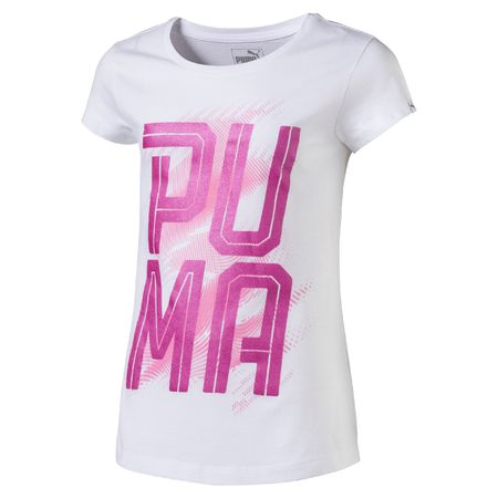 Puma dekliška majica Font Tee, bela, 176