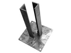 Zn platle k montáži sloupku na betonový základ - pro sloupky - profilu 100×100 mm