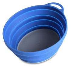 Lifeventure Silicon Ellipse Bowl blue