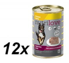 Nutrilove dog paté CHICKEN 12 x 400g