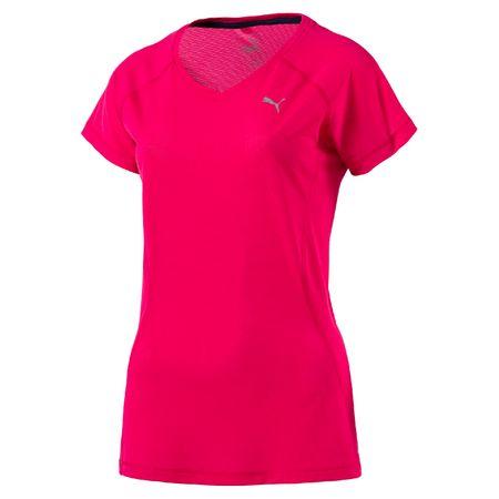 Puma ženska majica Core-Run Tee Sparkling Cosmo, rdeča, M