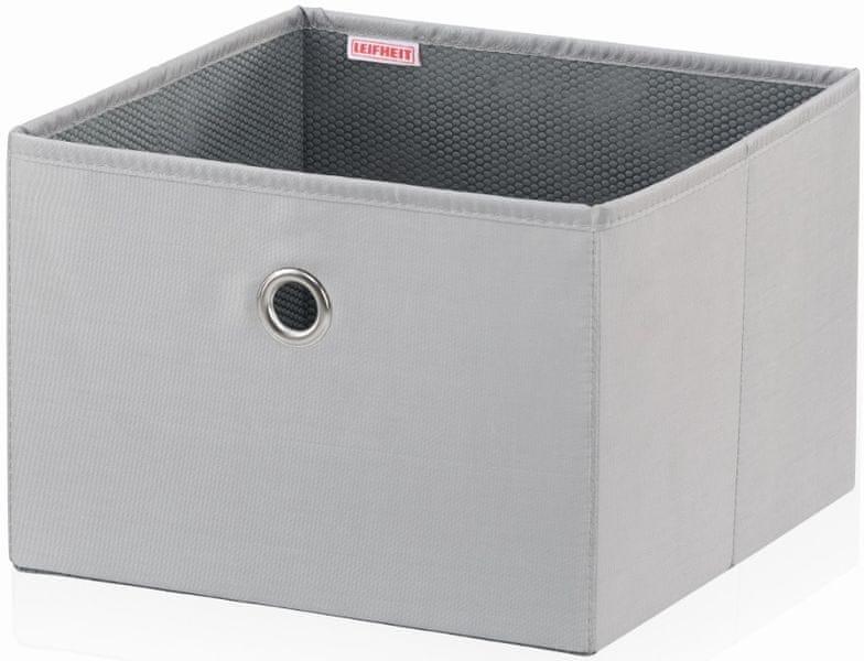 Leifheit Velký box, světle šedý