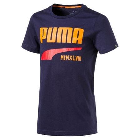 Puma otroška majica Style Graphic Tee, modra, 164