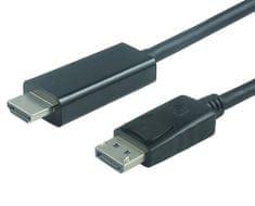 PremiumCord DisplayPort na HDMI kabel, M/M