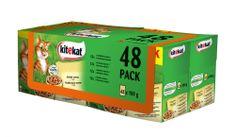 Kitekat sucha karma dla kota Wiejskie menu 4 x 12 pack