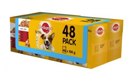 Pedigree mokra hrana za odrasle pse, 4 x ( 12 x 100g)