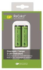 GP Nabíječka baterií PB410 + 2x GP ReCyko+ 1300 (AA), bílá