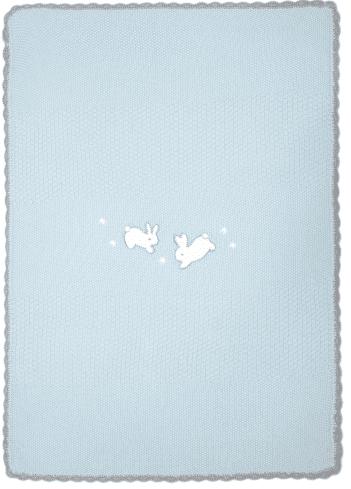 Mamas&Papas Pletená deka Králíčci, modrá