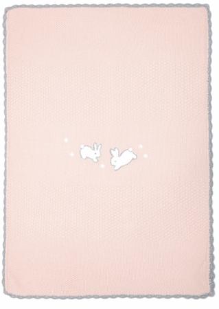 Mamas&Papas Nyuszis Kötött takaró, rózsaszín