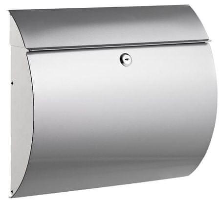 Alco poštni nabiralnik 8607, kovinski, srebrn