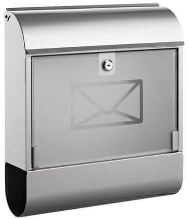Alco poštni nabiralnik 8608, kovinski, srebrn