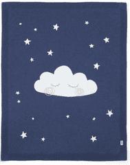 Mamas&Papas Pletená deka noční obloha modrá