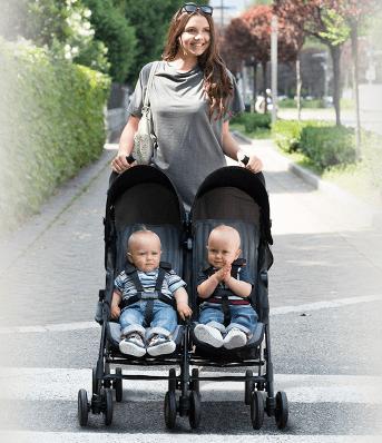 Újszülött kortól kb. 3 éves korig használható. Könnyű és kompakt. 15 kg  testsúlyig gyermek terhelhető. A két gyermek összesúlya max. 30 kg lehet. fdd81c9eb7