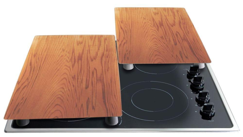 Stoneline Krycí desky na sporák/prkénko sada 2 ks dřevo