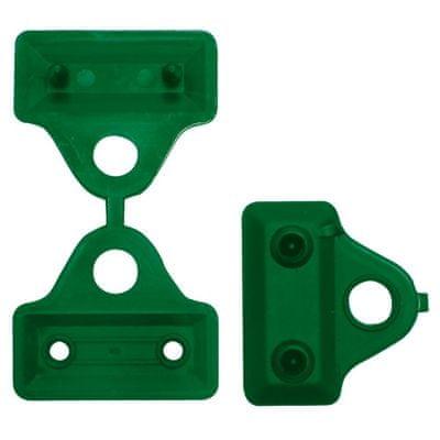 TENAX SPA Úchyt na stínící sítě CLIPS 5cm, zelený (12 kusů)