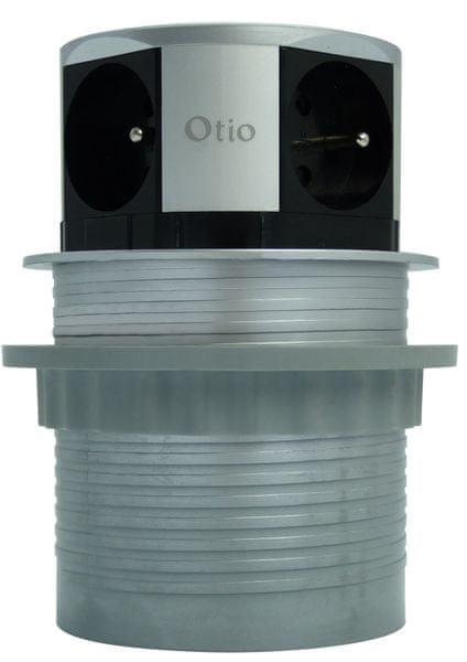 Moveto Otio výsuvná zásuvková lišta se 4 zásuvkami