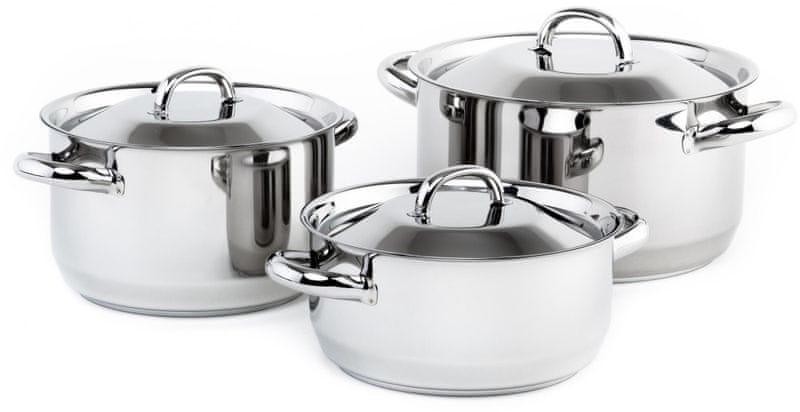 Kolimax KLASIK Sada nádobí s kovovými poklicemi, 6 dílů