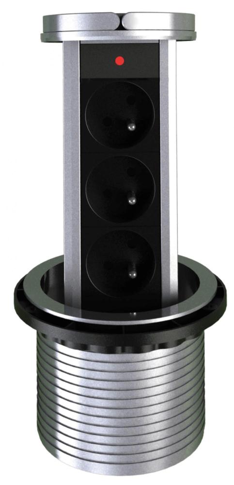 Moveto Otio výsuvná zásuvková lišta, 3 zásuvky - použité