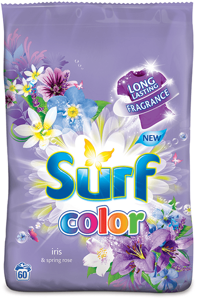 Surf Color prášek Iris & Spring rose, 60 praní