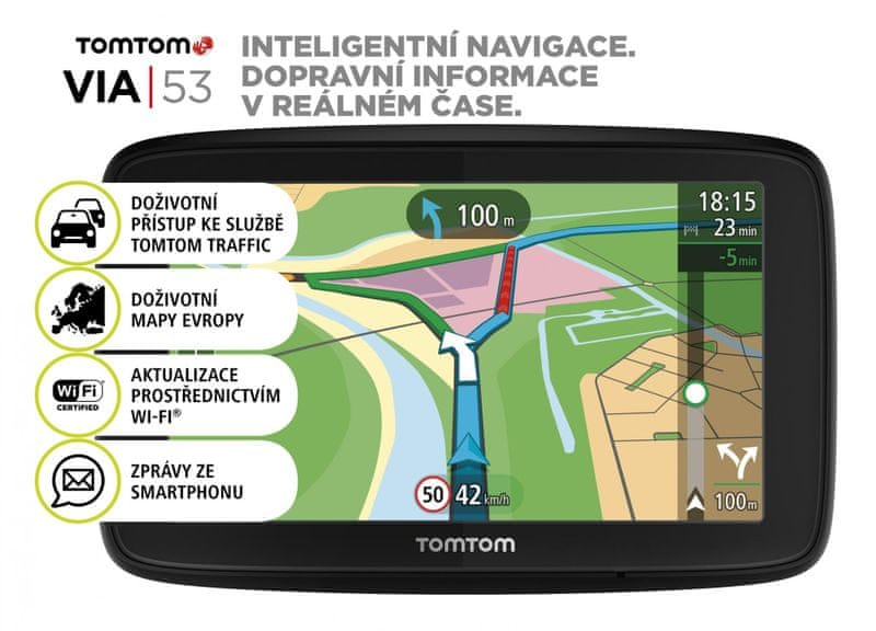 TomTom VIA 53 Europe (48 zemí) - LIFETIME mapy