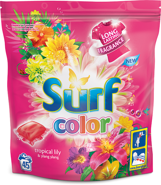 Surf Color tablety Tropical Lily & Ylang Ylang, 45 praní