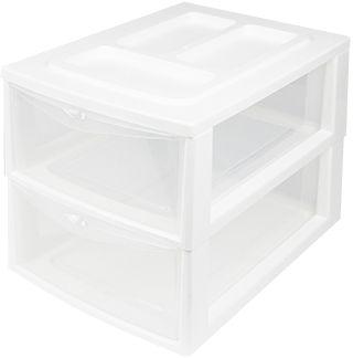 Heidrun Pořadač A4, 2 šuplíky, bílá