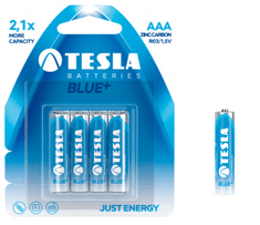 Tesla baterija AAA Blue+, blister, 4 kosi (R03)