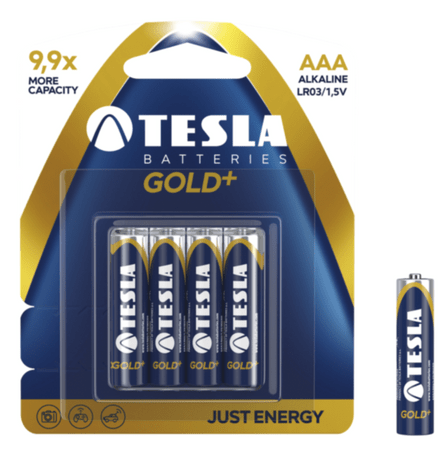 Tesla baterija AAA Gold+, blister, 4 kosi (LR03)