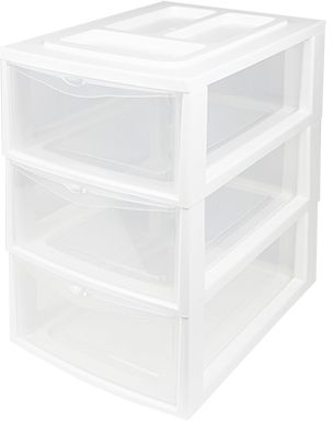 Heidrun Pořadač A4, 3 šuplíky, bílá