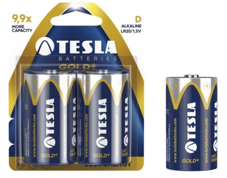 Tesla baterija D Gold+, blister, 2 kosa (LR20)