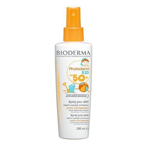 Bioderma Voděodolný opalovací sprej pro děti SPF 50+ Photoderm Kid (Spray For Children Very High Protection)