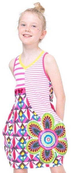 Desigual dívčí šaty Jartum 116 vícebarevná